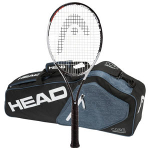 Head 2017 Graphene Touch Speed Pro STRUNG Tennis Racquet with 3 Racquet Bag