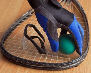 having racquetball racquet
