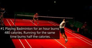 Benefits of playing Badminton