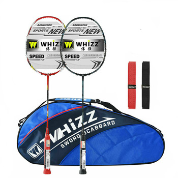 WHIZZ Anti Scratch Badminton Racket Set